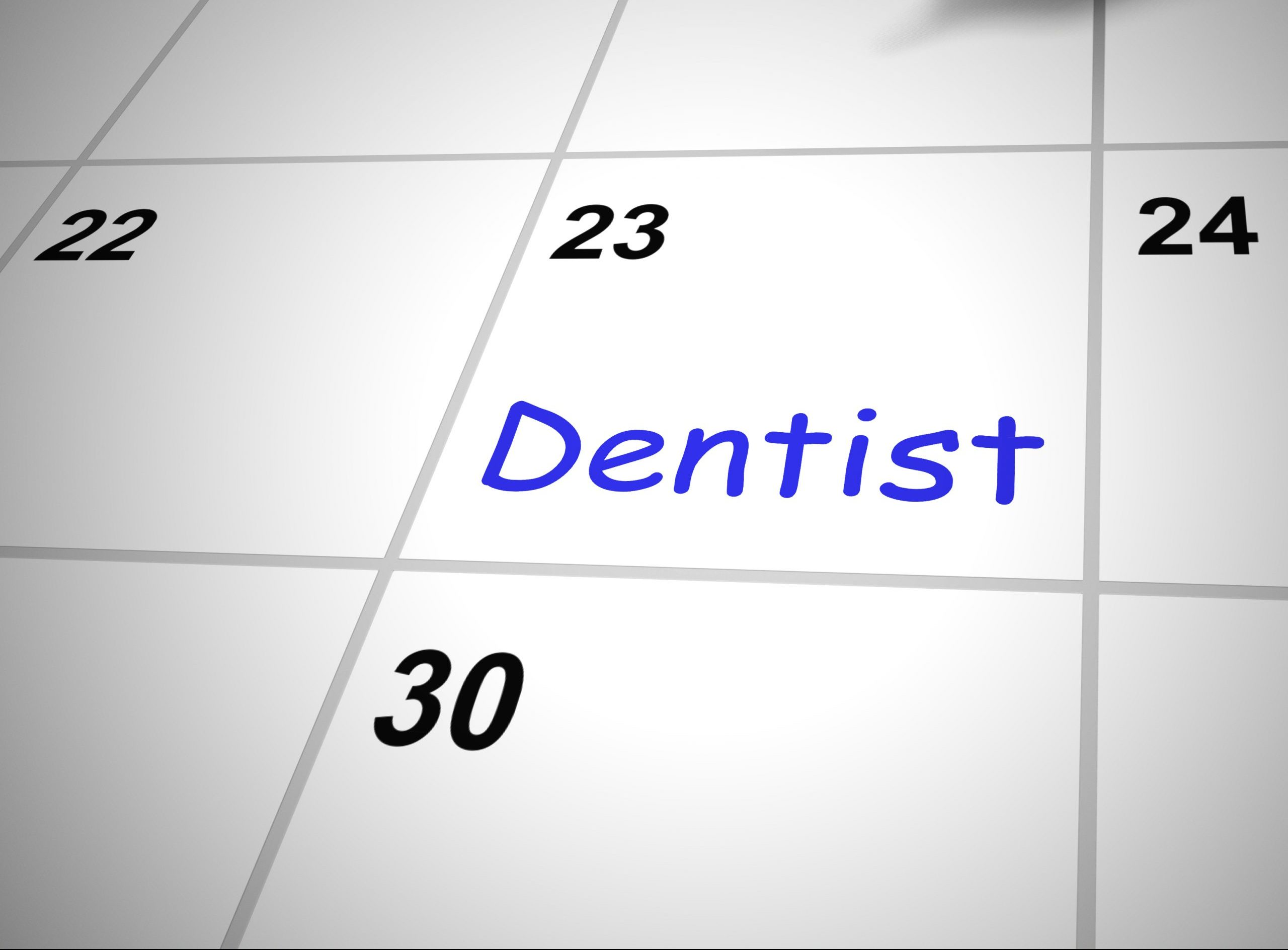 Dentist appointment booked for dental work on teeth – 3d illustration